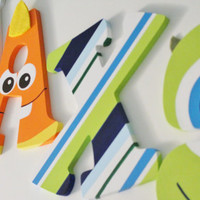 Monsters's Inc Inspired Wooden Nursery Letters