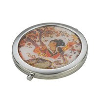 Compact Mirror with Geisha Girl