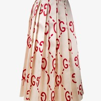 'GUCCI GHOST' LOGO PRINT SKIRT