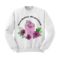 Feminist Crewneck in White