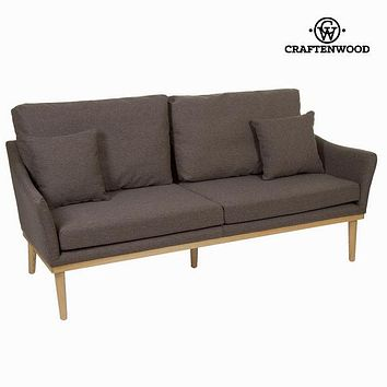 3-Seater Sofa Ash wood Mdf (176 x 75 x 70 cm) - Love Sixty Collection by Craftenwood