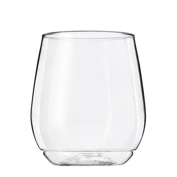TOSSWARE 14oz Shatterproof Wine & Cocktail Glass, SET OF 12 BPA-Free Upscale Recyclable/Disposable Plastic Wine Cups