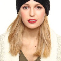 Twisted Knit Headwrap - Black