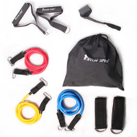 9 Pcs / set accessories Yoga Accessories Exercise Gym Fitness Latex Workout accessories  Elastic Training accessories