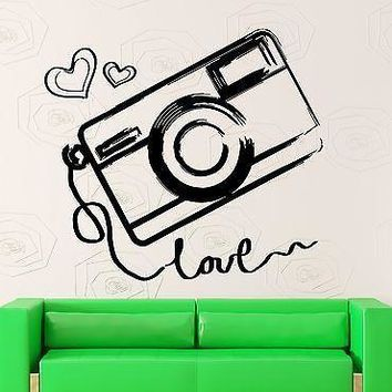 Wall Sticker Vinyl Decal Camera Photography Love Art Decor Unique Gift (ig2046)