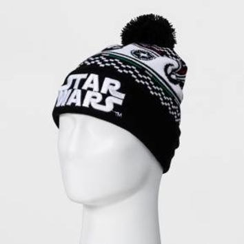 Men's Star Wars Fair Isle Hat - Black One Size
