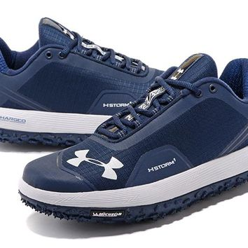 Under Armour Men's UA Overdrive Fat Tire Hiking Boots - Navy/White Color Size US 7-11