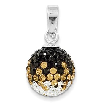 Sterling Silver Swarovski Crystal U of Missouri Ball Pendant CP6012-72
