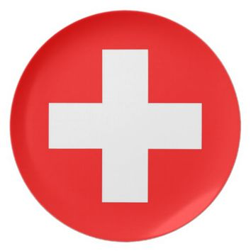 Switzerland Flag Plate