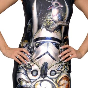 Storm Trooper Sleeveless Mini-Dress Design 3058