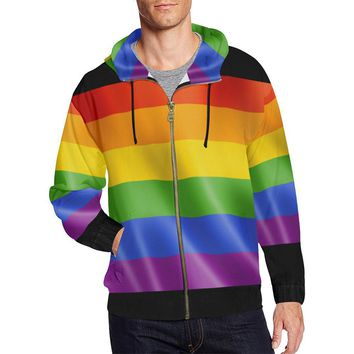 Pride Design 1 Men's All Over Print Full Zip Hoodie