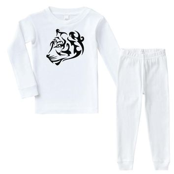 tribal tiger Infant long sleeve pajama set