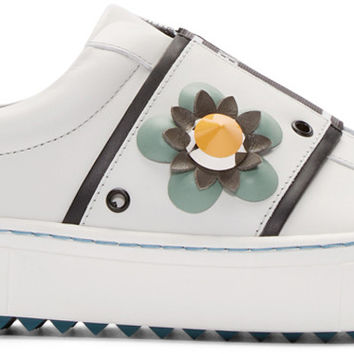 White Flowerland Sneakers