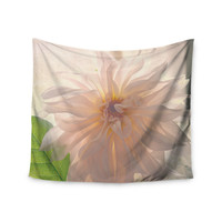 "Robin Dickinson ""Buy Her Flowers"" White Pink Wall Tapestry"