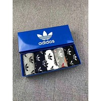 "Hot Sale ""Adidas"" Popular Women Men Casual Full Logo Print Pure Cotton Breathable Sport Socks - Boxed I-RQZ"