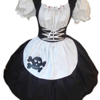 Gothic Rag Doll Dress Costume Black and White