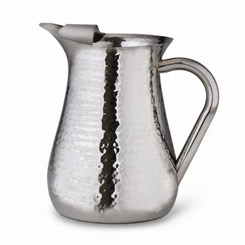 Stainless Steel 72oz. Hammered Pitcher W/ice Guard