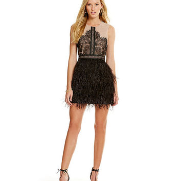 Gianni Bini Nanette Feather Dress | Dillards