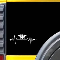 Bee Lifeline Heartbeat Honey Bee  Decal Sticker *I840*