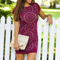 Cutout To Perfection Dress: Plum | Hope's