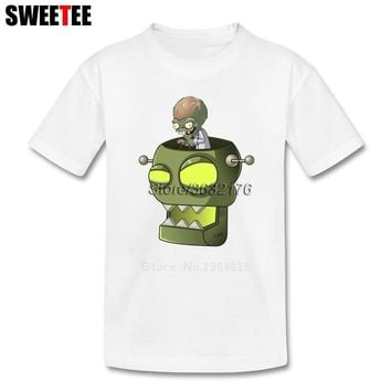 Plants VS Zombies Boy Children Toddler Clothes T Shirt Infant Cotton Boy Girl 2018 T-shirt Round Neck Kid Tshirt