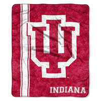 Indiana Hoosiers NCAA Sherpa Throw (Jersey Series) (50in x 60in)