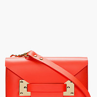 Sophie Hulme Bright Red Leather Mini Envelope Shoulder Bag for women | SSENSE