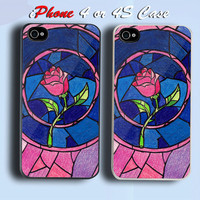 Beauty and the Beast Custom iPhone 4 or 4S Case Cover
