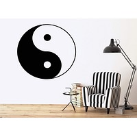 Wall Vinyl Sticker Decor Yin Yang Symbol Unity And Struggle Opposites Unique Gift (n056)