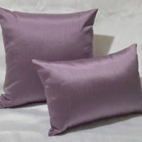 Solid Faux Silk Euro Sham / Throw Pillow Cover , Multi Size / Color