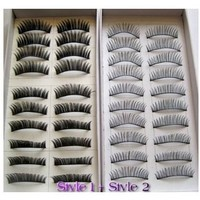 TOOGOO 20 Pairs Regular Long and Thick Eyelashes Style 1 and 2