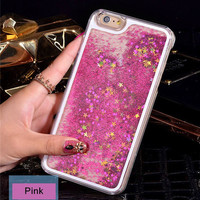 Pink with Stars Phone Case For iPhone 7 7Plus 6 6s Plus 5 5s SE 4
