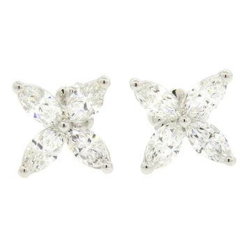 Tiffany & Co Victoria Large Platinum Diamond Earrings