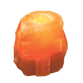 Himalayan Salt Lamp Tea Light Candle Holder Cross Shape Rock Salt