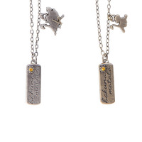 Disney The Lion King Simba Timon & Pumbaa Best Friend Necklace Set