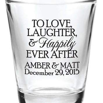 168 Wedding Favors Personalized Glass Shot Glasses Custom 2015 Wedding Designs