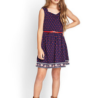 Floral Sweetheart A-Line Dress (Kids)