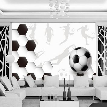 Beibehang Soccer Wallpapers 3D Wallpapers World Cups Children 's Bedroom Decoration wallpaper for walls 3 d papel de parede