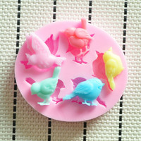2014 New Lovely bird silicone mold, Fondant Cake Decorating Tools,Silicone Soap Mold,silicon molds cake decorating
