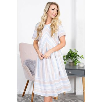 Diane Geo Prairie Trendy Dress | Neutral Colored