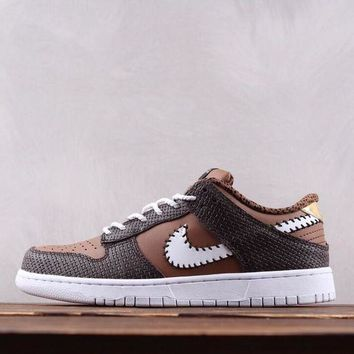 KUYOU N160 Nike Dunk Low Knit AH1072 Breathable Causal Skate Shoes Maroon