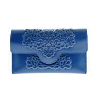 MeDusa Slim Clutch- Blue | MeDusa