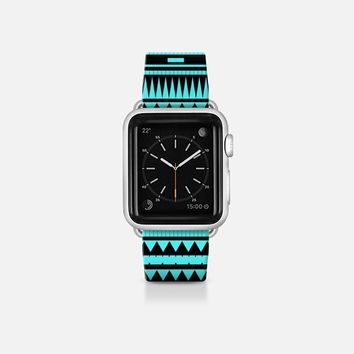 Turquoise Black Modern Aztec Apple Watch Band (38mm) by Organic Saturation | Casetify