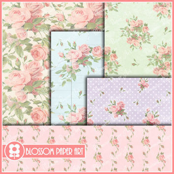 Roses Collage Sheet - Digital Scrapbooking Pack - Decoupage - Digital Paper - Printable - DIY - 1621