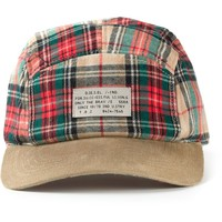 Diesel checked baseball cap