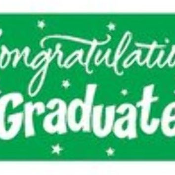 graduation greeting giant banner - green Case of 12