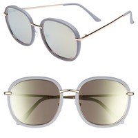 Quay Australia Dreamy Ways 57mm Rectangular Sunglasses | Nordstrom