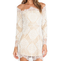 For Love & Lemons Grace Mini Dress in White