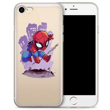 Spider-Man (animated) Jelly Clear Case for Apple iPhone 7 PLUS
