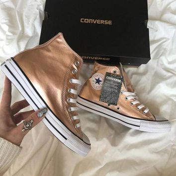 DCK7YE Converse' Fashion Sneakers Sport Shoes - Rose gold